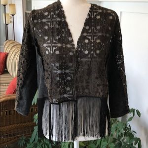 Buckle Short Waisted jacket/top. Large
